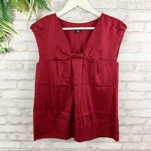 Banana Republic • 100% Silk Red Blouse Size XS